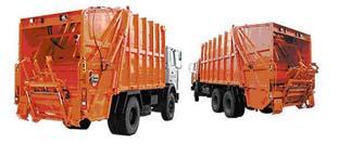 машина вывоза мусора и макулатуры типа Фаун Faun